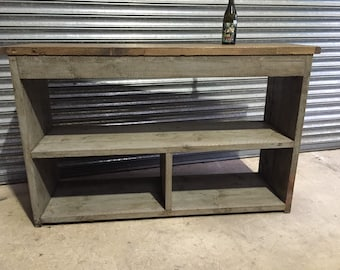 Industrial Up-Cycled Side table / Counter.