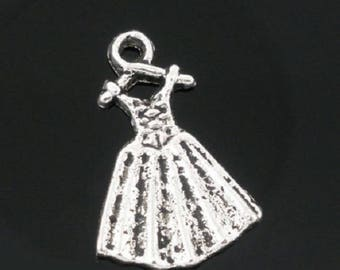 5 dress handmade charms in silver
