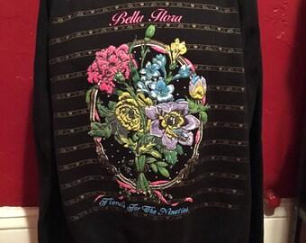 Vintage Bella Flora Florals For The Nineties Crewneck Sweatshirt XL