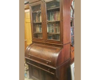 Antique Victorian Rolltop Secretary Cylinder Desk *Local Pickup Only no free shipping*