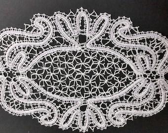 oval lace doily