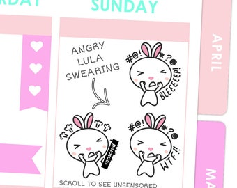 Angry Lula Swearing Stickers / Planner Stickers