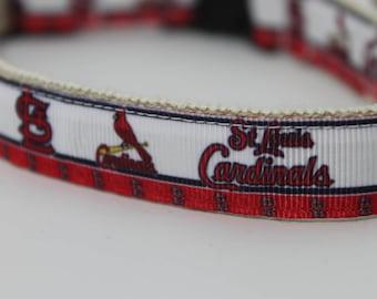 St Louis Cardinals hemp dog collar or leash