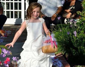 Flower Girl Shrug Bolero Ivory for Age 4