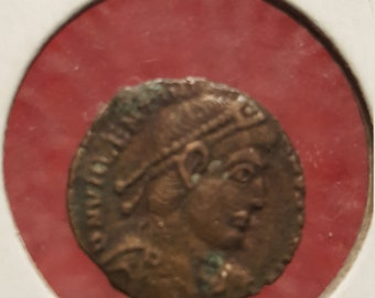VALENTINIAN I 364AD Ancient Roman Coin Nike Victory Cult Angel