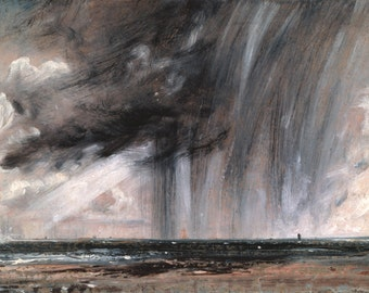 Seascape Study with Rain Cloud by John Constable Decor Wall Decor Giclee Art Print Poster A4 A3 A2 Large FLAT RATE SHIPPING