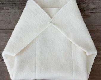 organic hemp cotton prefold  insert for cloth diapers / cloth nappy