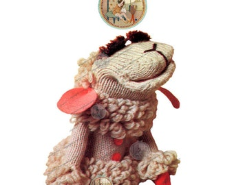 Lamb Chop Puppet Pattern to Knit or Crochet - From Vintage - PDF Digital Instant Download - PrettyPatternsPlease