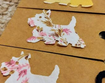 4 Westie Gift Tags