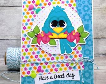 Bird Die Cut Card, Have a Tweet Day