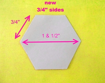 100 Paper Hexagon Templates for Patchwork 3/4 inch Sides