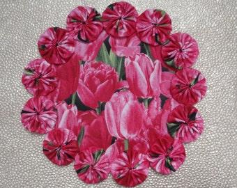 Pink Tulip Doily II