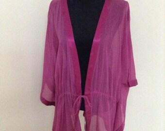 Ulla Popken Robe Kaftan Caftan - Purple (Over Size)