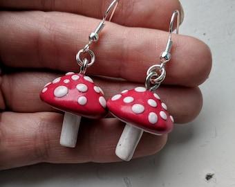 Traditional Toadstool Earrings