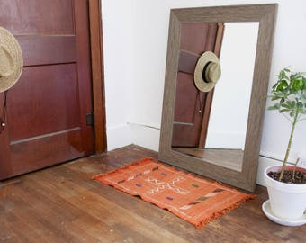 Vintage Orange Flatwoven Area Rug