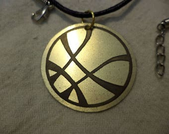 Marvel's Dr Strange New York Etched Brass Pendant