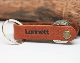 Promotional Corporate gift give away Hand Crafted in USA: Minimalist Low-Profile Key holder organizer ring keychain
