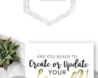 Premade Logo, Logo Design, Branding, Photography Logo, Blog Logo, Marble Logo, Marble Branding, Geometric Logo, Minimalist Logo, - 448