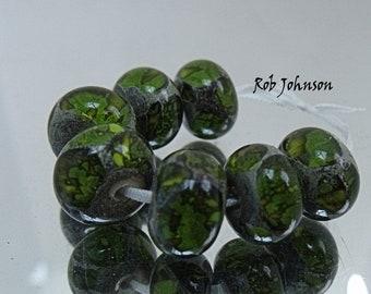 Marsh Dragons, Lampwork Beads, SRA, UK