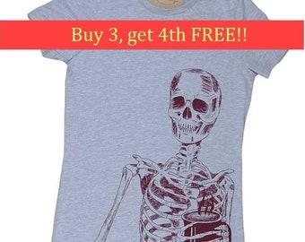 Skeleton Tee - Coffee Lover T Shirt - Coffee Drinking Shirt - Coffee Drinker Gift - Gift for Coffee Lover - Coffee Lovers Gift Bella Canvas