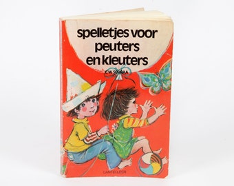 Vintage children's books-games for toddlers and preschoolers