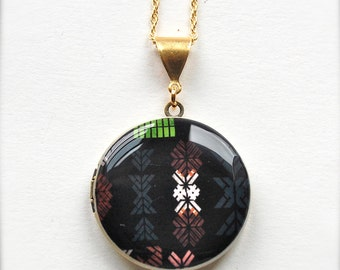 "Art Locket Alyson Fox ""Stencil"" Necklace"