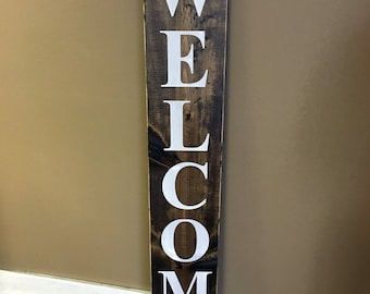 Wood welcome sign, front door welcome sign, rustic welcome sign, Merry Christmas Sign. Holiday Sign