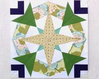 Paper Piecing - Scorpio #246 - Zodiac Block of the Month - 3 sizes