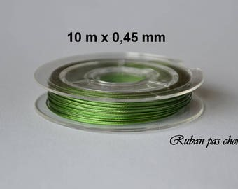 Spool of 10 meters of wired 0.45 mm - Mint green - cheap!