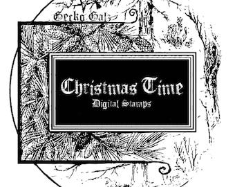 Christmas Time Digital Stamp Set