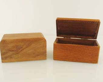 Walnut Wood Trinket Box 1 Piece