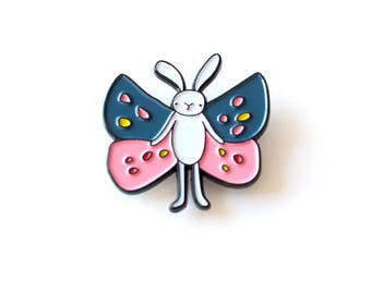 Bunny Butterfly enamel pin | limited edition