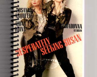 Desperately Seeking Susan, Madonna, VHS Film Box, Handmade, VHS Upcycled Notebook, Journal