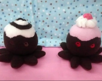 Caketopus plushie cake octopus frosting sprinkles chocolate