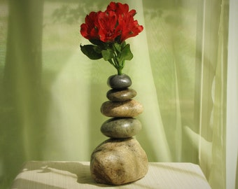 Vase made of Stacked Stone