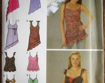 Misses Sleeveless Tops 8 Styles Sizes 12 14 16 18 Simplicity Pattern 4750 UNCUT