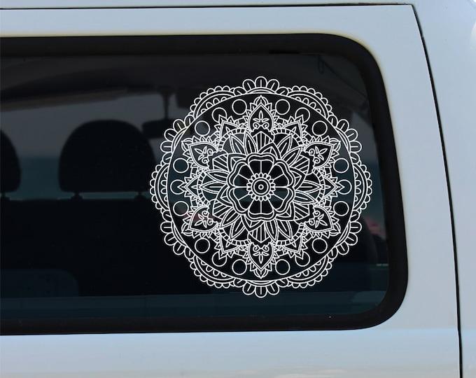 Flower Mandala Vinyl Window Decal - Car Sticker - Car Decal - Mandala Decal - Mandala - Flower Mandala - Vinyl Decal - Decal - Flower Decal