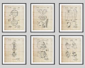 Football Patent Print Set, Panel Art, Vintage Patent Art, Panel Art, Football Helmet, Boys Room Decor, Game Room Art, Football Gifts for Him