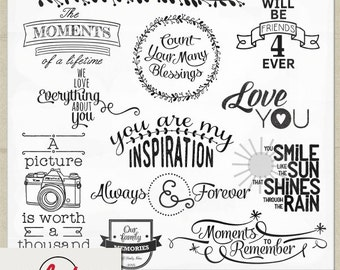 Digital and Printable Overlay Word Set Art - Instant Download - Words Matter - Photography Overlays