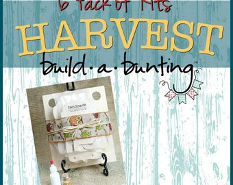 Custom Harvest Build a Bunting,Wooden Bunting,Fall Decor,Mantle Decor,Holiday Banner,Thanksgiving Decor,Paint Workshop Kit,Chalk Paint