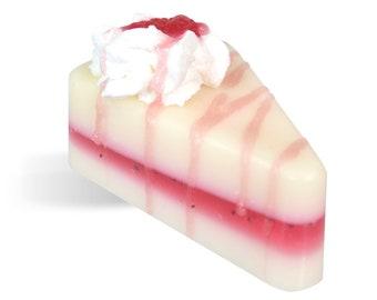 White Truffle Raspberry Cake Soap
