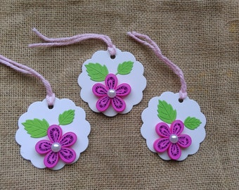 Set of 3 Quilled Gift Tags