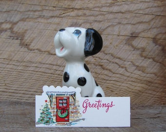 Vintage Christmas Tags Red Door with Tree