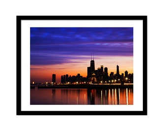 Chicago Print, Printable Photo, Chicago Photography, Chicago Art, Instant Download,Chicago Skyline, Fine Art Photograph