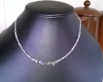 Labradorite and sterling silver necklace