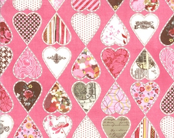 Kissing Booth 1 Yard Remnant 30312-17 Pink