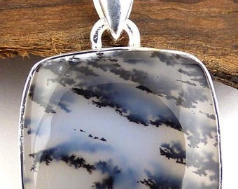 DENDRITIC Opal PENDANT natural stone, dendritic Opal pendant, dendrite Opal jewelry, NB25.1