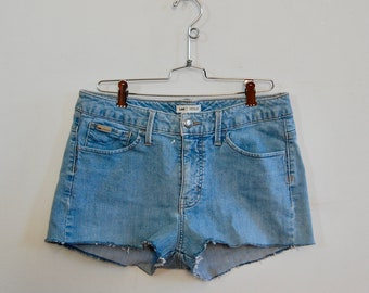 "Lee Denim Cutoffs - Blue Jean Cut Offs - Size 30"" - Handmade Cutoff Jeans - Summer Fashion - Denim Shorts - Gift for Her - Denim Cutoffs"