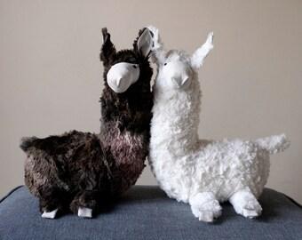 Llama, Cute Soft Baby Toy, Furry Plush Hoofed Animal, South American Alpaca