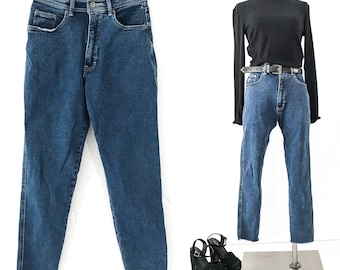 90s Clothing Women 90s VINTAGE Clothing 90s 80s JEANS HIGH Waisted Jeans Skinny High Rise Jeans 90s Vintage Clothes Bill Blass Jeans Cropped